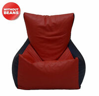 Red and Royal Blue Beanbag Chair Without Beans XXL Leatherette Chair Cover