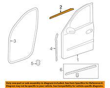 Front Door Window Sweep-Belt Molding Weatherstrip Right 1646907480