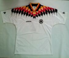 VINTAGE RARE 90's ADIDAS DFB GERMANY NATIONAL SOCCER TEAM #7 HUBER JERSEY SIZE L