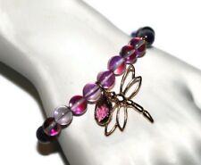 Violet Mystic Aura Quartz Bracelet Healing Crystals & Stones Jewelry for Women