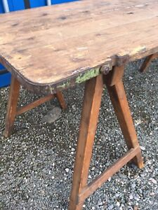Antique Vintage 6ft Trestle Refectory Kitchen Garden Dining Events Meeting Table