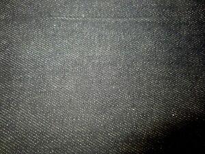 Vintage 1.6 Yards Of Light Black Denim Fabric