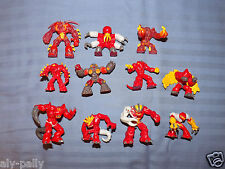 GORMITI FIGURES FROM PEOPLE OF THE MAGMA VOLCANO LAVA TRIBE FIRST SECOND SERIES