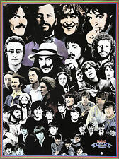 The Beatles Rock n Roll Music Collage Vintage Original Poster