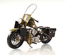 "1942 Harley Davidson Military Motorcycle Metal Model 12"" Army Automotive Decor"
