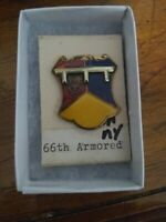 66th Armor Tank Battalion Pin Crest DI DUI MS Meyer