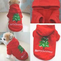Weihnachten Pet Kleidung Wärmer Mantel Hund Katze Hoodie Welpe Overall Weste V9