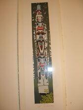 """Alaska Totem"" A/P Serigraph by D. Catotti"