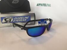 New Guideline HATTERAS Polarized Black/Deep Six Blue Mirror Sunglasses- Fishing
