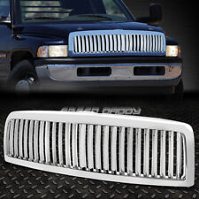 SPORT 1PC FRONT HOOD BUMPER GRILL/GRILLE/FRAME FOR 94-02 DODGE RAM BR/BE CHROME