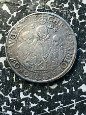 1594 Germany Saxony 1 Thaler Lot#A229 Large Silver Coin! 3 Brothers