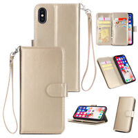 Leather Case Flip Wallet Cover Stand Case For iPhone XS Max XR 6/6S 7 8 Plus US
