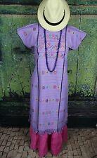 Lavender Amuzgo Huipil Dress Hand woven Mexico Cowgirl Hippie Santa Fe Peasant