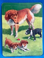 Vintage Puzzle With Boston Terrier And Collies