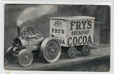 More details for picture postcard of fry's breakfast cocoa traction engine model (c63942)