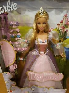 #55532 Barbie as Rapunzel - Musical Hair Brush Growing Long Hair - NRFB 2001 HTF