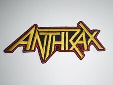 ANTHRAX THRASH METAL IRON ON EMBROIDERED PATCH