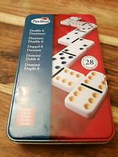 Double Six Dominoes SET BY PAVILION COMPLETE METAL CASE NO INSTRUCTIONS