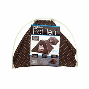 PORTABLE PET TENT W/ SOFT FLEECE PAD FOR CATS & SMALL DOGS.   FOLDABLE