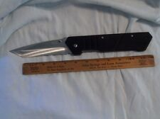 Giant Tanto Folding Knife BLACK knives daggers swords