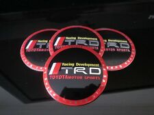 TOYOTA TRD WHEEL RIMS CENTRE CAP HUB COVER DECAL STICKER COROLLA CAMRY 86