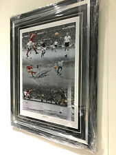 FRAMED GEOFF HURST SIGNED PHOTO PROOF COA ENGLAND WORLD CUP 1966 AUTOGRAPH