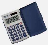 Sharp 8 digit CALCULATOR Solar Powered LCD Flat Viewing 3-Key Memory EL243SB NEW