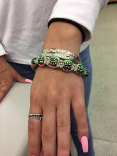 HOT Divine Inspired Pink/Green Accent Shamballa Bracelet AKA CharBling