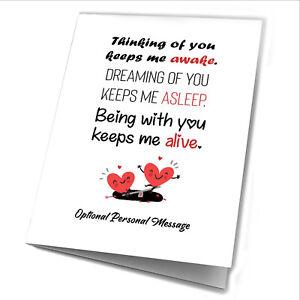 Anniversary Card For Husband Wife Girlfriend Her Him Boyfriend Gifts Print