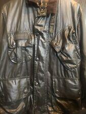 Barbour international A7-Biker jacket-Olive-waxed cotton-C34 86cm S-rewaxed-vntg
