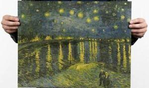 Van Gogh's Painting Starry Night Rhone Wall Art Craft Poster Print Gift Friend