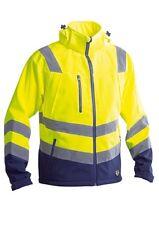 """Giubbotto Softshell """"Fluo"""" alta visibilità colore giallo blu"""