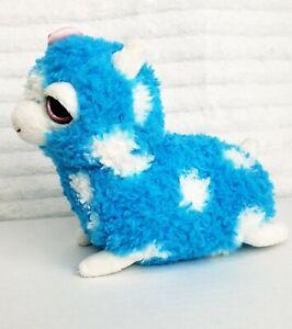 """Applause Russ 7"""" Plush Llama Alpaca Soft Beanie Saneon Blue White Polka Dot Toy"""