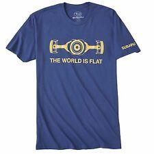 "Subaru Official  "" The World is FLAT "" T Tee Shirt Impreza Sti WRX BOXER JDM NEW"