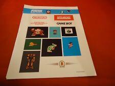 Nintendo Power Retro Sticker Sheet 20th Anniversary Donkey Kong Duck Hunt Zelda