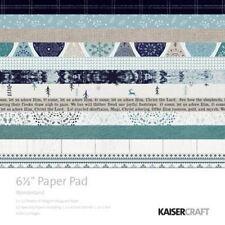 """KAISERCRAFT Scrapbooking Paper Pads - Wonderland 6.5"""" PP1051 Christmas"""