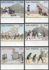 San Marino 2003 Children's Games/Toys/Marbles/Dance/Go-Cart/Hoops 6v set  n45983