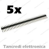 5 pz Connettori strip line 40 poli pin maschio L=6mm stripline separabili header