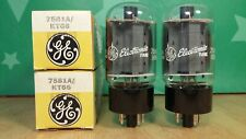 Closely Matched Pair of GE 7581A (KT66 6L6GC) NOS NIB Vacuum Tubes