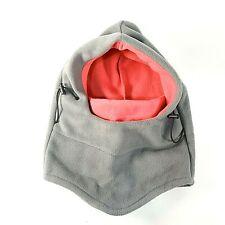Fleece Balaclava Hood - Gray/Pink