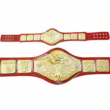 WWWF Backlund Wrestling Championship Belt Crocodile Leather Thick Plated 8mm Red