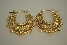 9ct Gold Solid Flat Gypsy Earrings