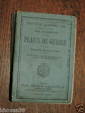 Règlement service des places de guerre 1907  Charles-Lavauzelle WW1