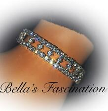 Elegant Crystal Rhinestone Bracelet Stretch Silver Bridal Jewelry Luxurious