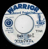 "PRINCE ALLAH & VANDELLS-red hot     warrior 7""    (hear)    reggae roots"