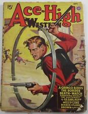 ACE HIGH WESTERN PULP MAGAZINE SEPT 1946 ED E REPP LEE E WELLS CLIFF M BISBEE