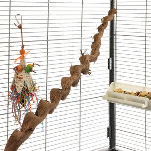 Natur Sitzstange für Papageien Spiral Liane 90-100cm / 2-3 cm Vogelstange