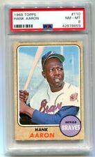 1968 Topps Hank Aaron #110 Braves PSA 8 NM-MT (CBF659)