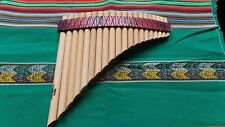 PROFESSIONAL CURVED PAN FLUTE 20 PIPES SEE VIDEO FROM PERU CASE INCLUDED