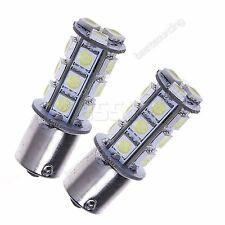 2 P21W R10W 1156 BA15s Xenon White 18 SMD LED Stop Brake Indicator Car Light 12V